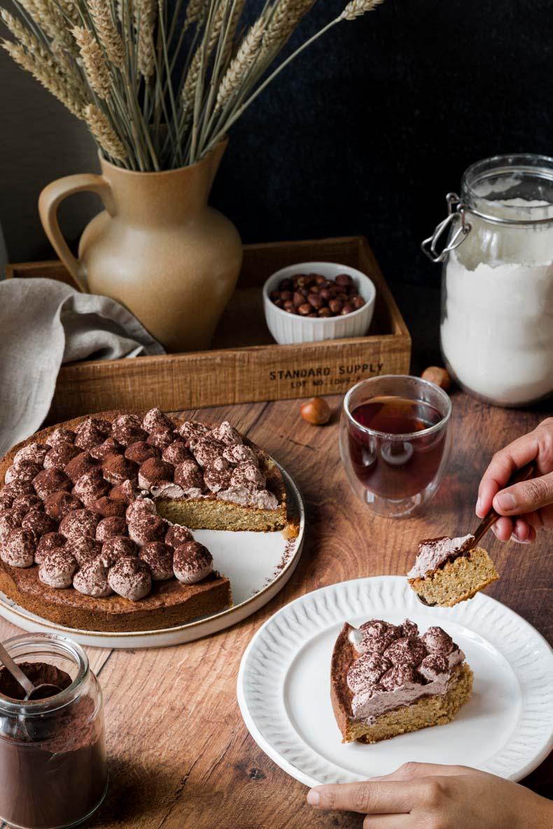 Faire un gâteau à la poudre de noisette & citron confit facilement - recette sans lactose