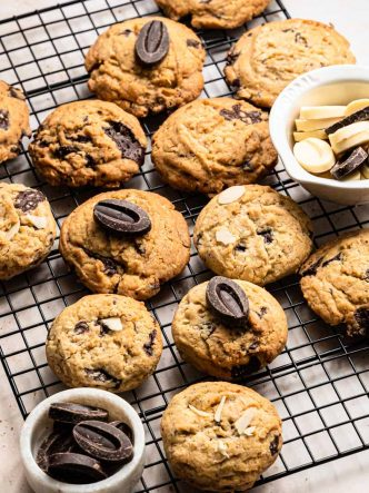 Cookies sans lactose aux deux chocolats (Valrhona)