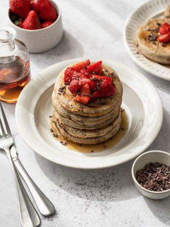 Pancakes de sarrasin sans lactose - recette pour brunchs, petits-déjeuners & goûters