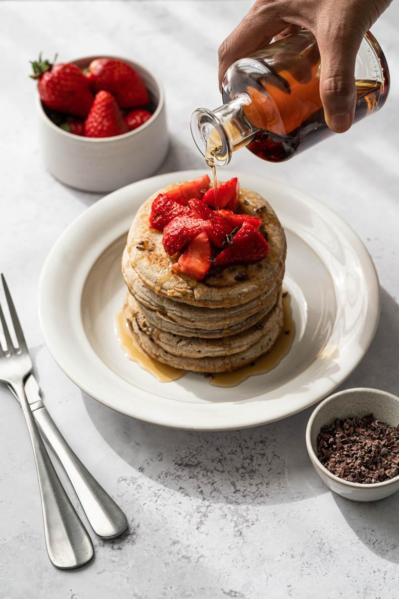 Pancakes au sarrasin - recette sans lactose