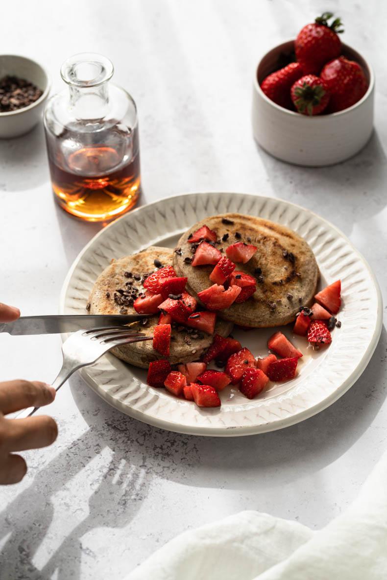 Pancakes au sarrasin parfait pour le brunch !