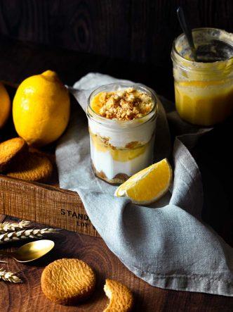 Dessert aux fruits - faites un Parfait au citron & sablés breton