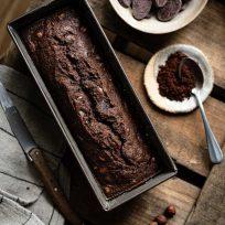 Cake au chocolat noir en poudre - recette sans lactose & facile à faire