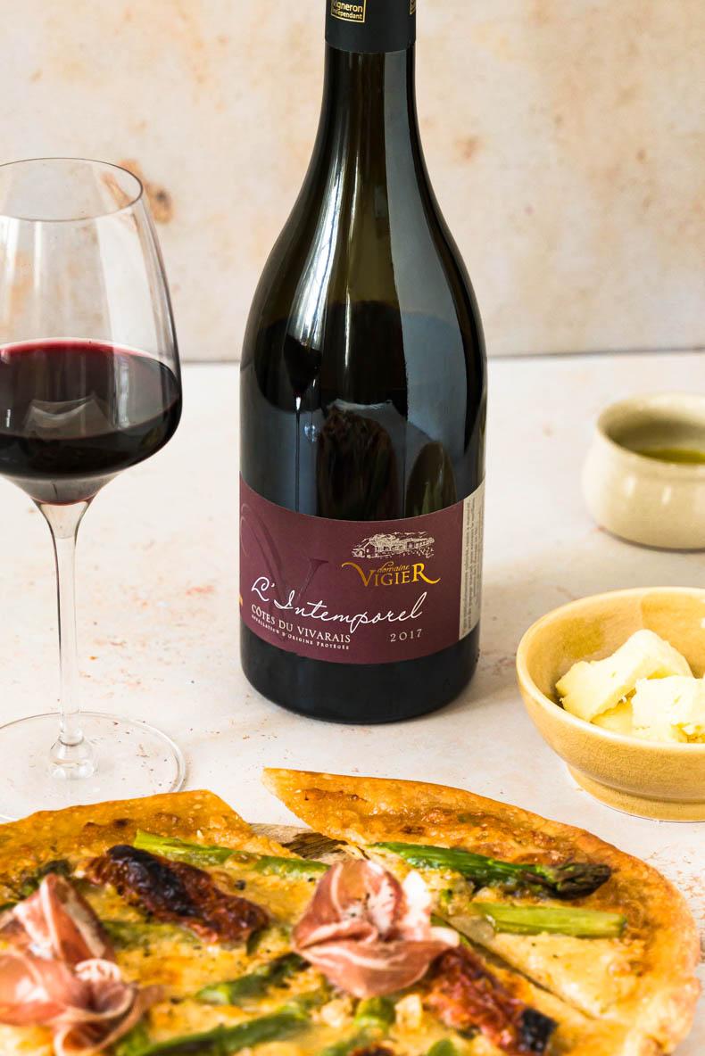 Vin rouge - Côte du Vivarais 2017 - Domaine Vigier - cuvée l'intemporel